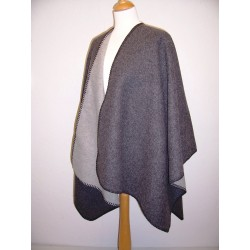 Cape double face anthracite-gris