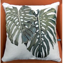 COUSSIN FEUILLE MONSTERA