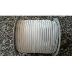 Élastique - Plat blanc - 5 mm
