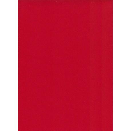Flanelle Pure Laine Peignée - Rouge Ferrari
