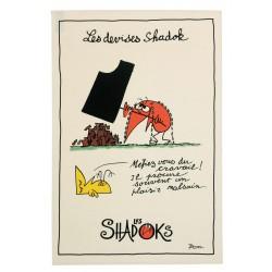 Torchon Les Shadoks -travail