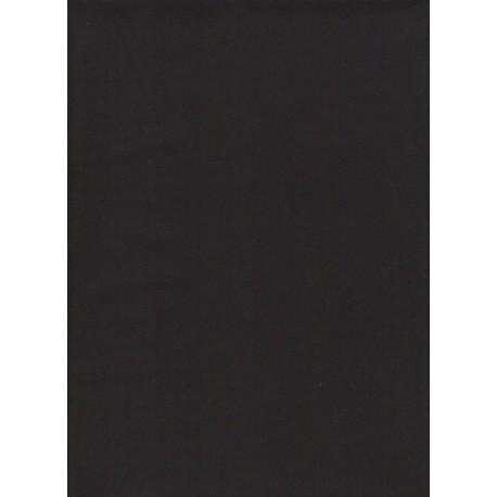 Flanelle Pure Laine Peignée - Noir